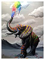 ダイヤモンド絵画 5Dラインストーン絵画フルラインストーン動物ラインストーン刺繍象装飾ホーム (Color : 1802, Size : Full Square 30X40cm)