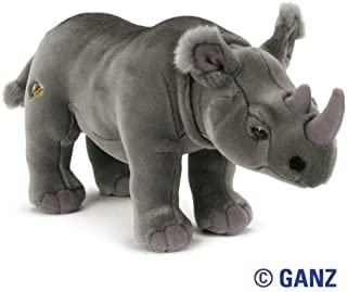 Webkinz Signature Endangered Species Black African Rhinoceros November 2010 Release + 12-Pack TyeDye USA Kids Wristbands by Pii!!!