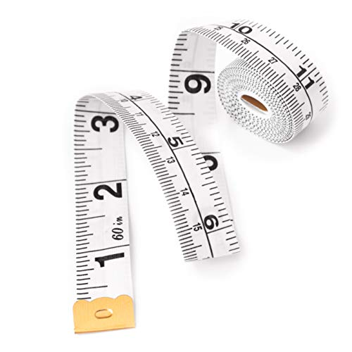 Winice Dual Sided Measuring Tape | Perfect to Measure Body | Sewing Tape Ruler | Durable and Flexible Fiber Glass Material | 60 Inches |150 Centimetres | White Colour