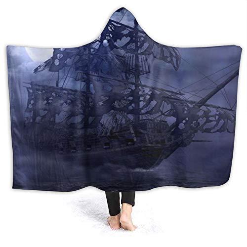 HARXISE Hoodie Decke,Segeln Piraten Geisterschiff Fliegender Holländer auf hoher...