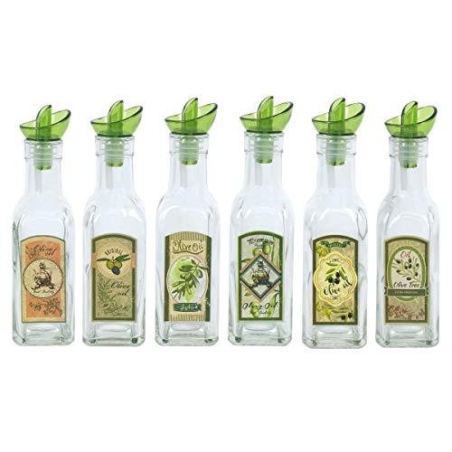 Aceitera x6 Modelos Olive Oil 200 ml Vidrio