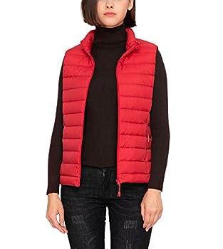 LAPASA Women s Lightweight Water-Resistant Puffer Vest REPREVE Packable Stand Collar L24