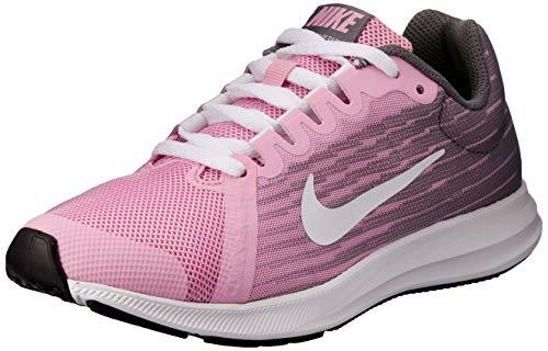 Nike Damen Downshifter 8 (gs) Leichtathletikschuhe, Mehrfarbig (Pink Rise/White/Gunsmoke/Black 602), 36.5 EU