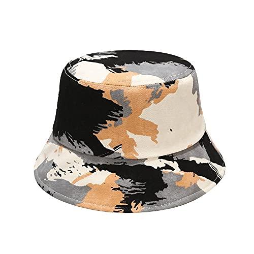Cubo Sombreros,Camuflaje Tie Dye Bordado Sombrero De Cubo De Doble Cara Sombrero De Pescador Sombrero De Viaje Al Aire Libre Gorra Para El Sol Sombreros Para Mujeres Hombres Hip Hop Cap-Colo