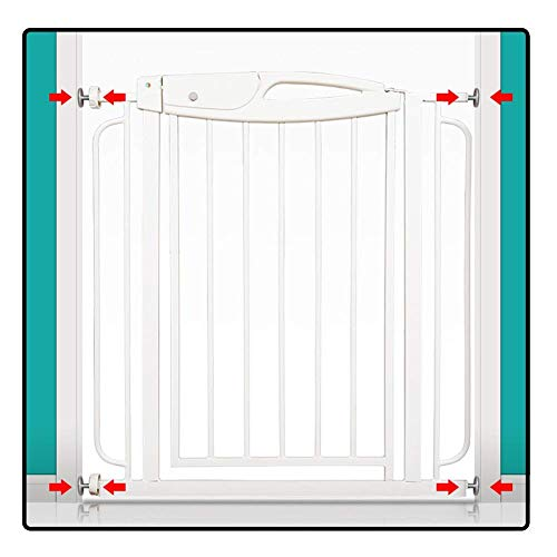 Barrières pour bébé, Pet Dog Gate Hallway Wide Fit Baby Safety/Door/Stair, Without Drilling Extensible to 155cm (Size: 119-135cm)