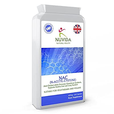NAC N-Acetyl-Cysteine 600mg 120 Capsules / Amino Acid / Healthy and Normal Liver and Lung function / 100% Quality Assurance by HTC LTD