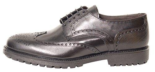 Antica Calzoleria Campana Schuhe | Mod. 700 | Brogue | Kalbsleder | schwarz | Gr. 41