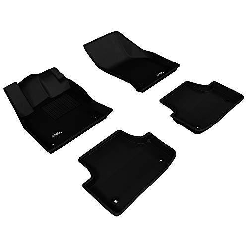 3D MAXpider Complete Set Custom Fit All-Weather Floor Mat for Select Audi A3/S3 Models - Kagu Rubber (Black)