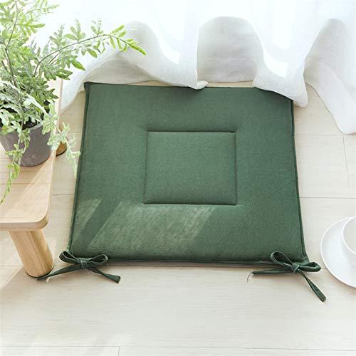 La silla del asiento cojines de los asientos almohadillas de algodón ropa de casa de calidad 1pc Silla de comedor de glúteos cuadrado de la estera del cojín del taburete de estilo japonés Tatami Cojin
