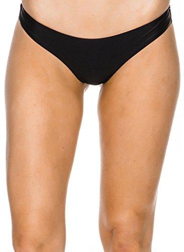 RVCA Damen SOLID Cheeky Bikini Bottom Bikinihose, schwarz, Large