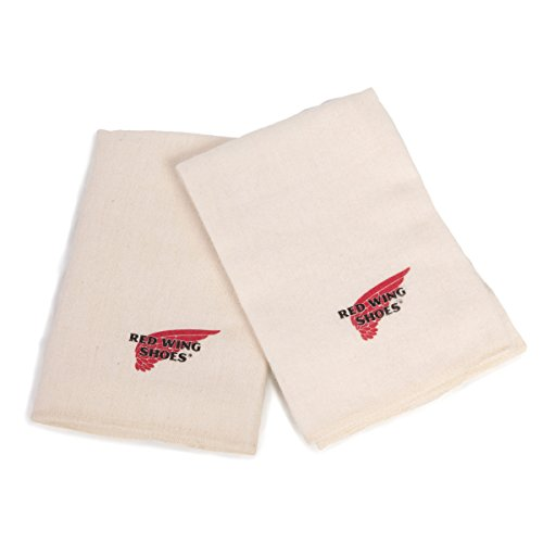 Red Wing Pelucheux Polissage Chiffons - Fabriqué en USA - Beige, 1 Pack of Red Wing Boot Cloths