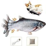 Jouet Poisson Electronique Simulation: Lorsque votre chat le touche, il déclenche un capteur de mouvement intégré dans le jouet de poisson, provoquant le corps du poisson à se balancer. Cela attirera l'attention du chat, lorsque le propriétaire n'est...