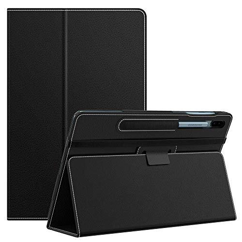 MoKo Funda Compatible con Galaxy Tab S6 10.5 Inch SM-T860/T865 2019, Ultra Slim Función de Soporte Plegable Smart Cover Stand Case Compatible con Galaxy Tab S6 10.5 Inch SM-T860/T865 2019 - Negro