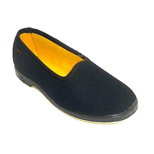 Zapatillas Mujer de Persona Mayor Muy cómodas Doctor Cutillas en Negro Talla 40