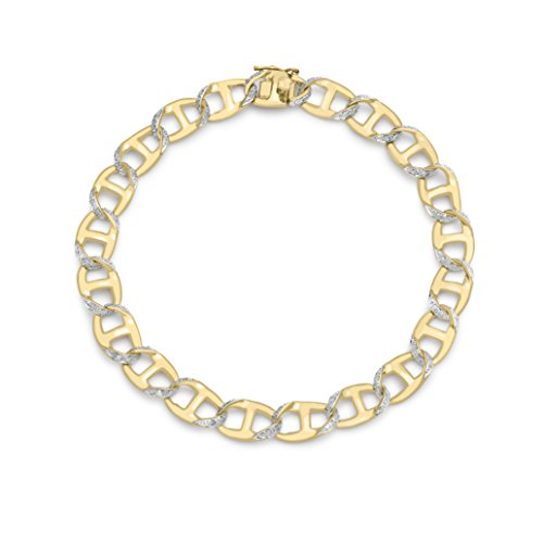 Photo of Carissima Gold 9 ct Yellow Gold Gents Diamond Curb Bracelet 21.6 cm/8.5 inch