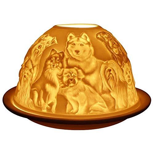Welink Light-Glow Tealight Candle Holder, Best Friends Dogs