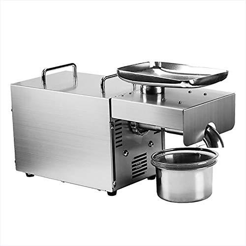 Máquina de prensa de aceite 610W Prensa fría/caliente Extractor de aceite automático Expeller de aceite orgánico Máquina de prensa de aceite de acero inoxidable,220v