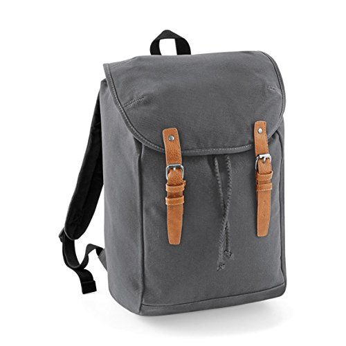 Quadra Vintage Rucksack/Backpack - Grey - One size
