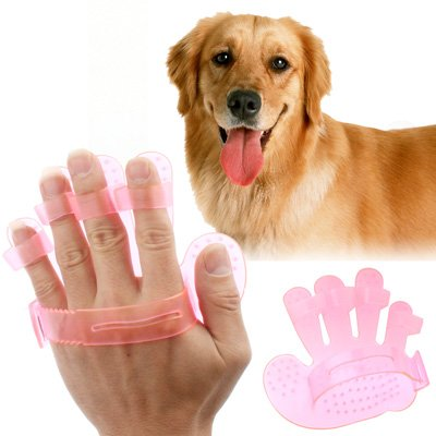 Qiuge Pet Grooming Handschuhe Pinsel Grooming Entfernen Tangle Knoten for Lange und Kurze Haare Hund und Katze, Tierpflege Handschuhe Pet Supplies