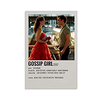ZHJB Classic Vintage Aesthetic 90S for Room Posters Gossip Girl Canvas Art Poster and Wall Art Picture Print Modern Family Bedroom Decor Posters 12x18inch 30x45cm