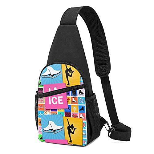 DJNGN Pattinaggio sul ghiaccio I Love Sling Backpack Tracolla a tracolla
