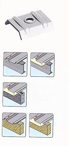 50 Stück Kalotten Alu für Lichtplatten - Trapezbleche Profil 70/18 und 76/18