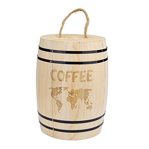 jieGorge Bohnenbehälter RäUmungsverkauf,Luftdichter Behälter der frischen Kaffeebohne aus Holz für Kaffeebohnen
