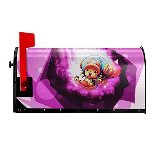 Una pieza Anime Luffy Roronoa Buzón de Buzón de Correo Postal Magnético Wrap Buzón de Carta al aire libre Pulgada Original Hogar Decorativo Dos Tamaños en/25.5 pulgadas