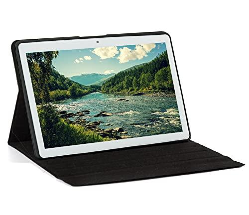 Tablet 10 Zoll, Android 10,Tablet PC mit Quad-Core-CPU, 4 GB RAM, 64 GB ROM, 5MP+8MP Kamera, 1280x800(IPS HD Bildschirm), Type C, WiFi/GPS/Bluetooth 4.0