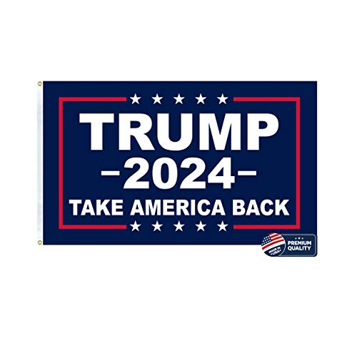 Made in the USA 3x5 Trump 2024 Take America Back Flag. Double-sided High-Quality Outdoor Yard Flag Proudly Manufactured in the USA. Keep America Great.