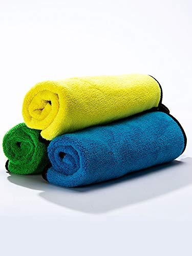 Toallitas de lavado de coche, absorbentes y espesantes, sin pérdida de cabello, sin rastros, grandes trapos para coches, vidrio especial para uso en interiores