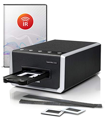 Plustek OpticFilm 135i - Automatic Film & Slide Scanner, Batch converts 35mm Slides & Film Negatives, Support 3rd Party Editing Software Export with 7200 dpi Resolution and Infrared Dust/Scratch Remo