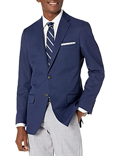 Haggar Men's Active Series Classic Fit Stretch Suit Separate Pant, Blue Blazer, 44S
