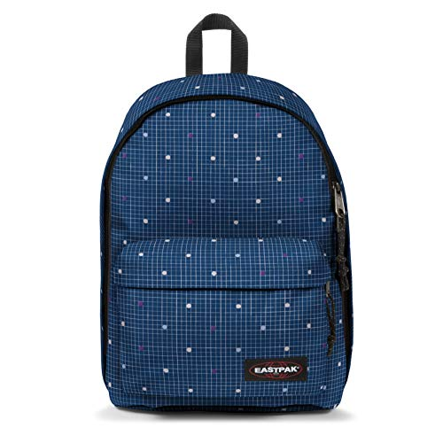 Eastpak out of Office Mochila Tipo Casual, 44 cm, 27 Liters, Azul (Little Grid)