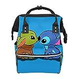 Mochila de pañales Yoda Baby con puntada impermeable bolsa de bebé mamá y papá mochila de pañales ligera de gran capacidad para pañales de viaje