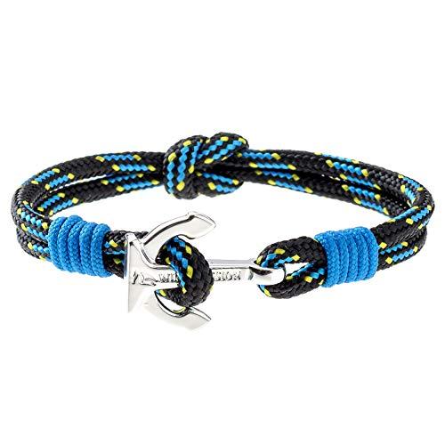 Wind Passion Hoogwaardige Armband met Anker, Duurzame Polsband van Scheepstouw voor Mannen en Vrouwen