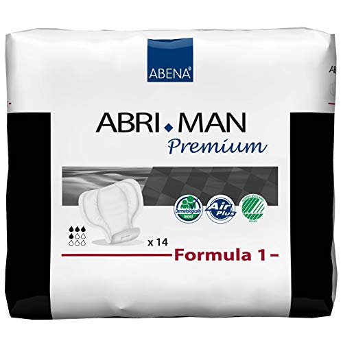 Abena Abri-Man, Formula 1, serviette de qualité supérieure pour homme, forme anatomique, 450 ml