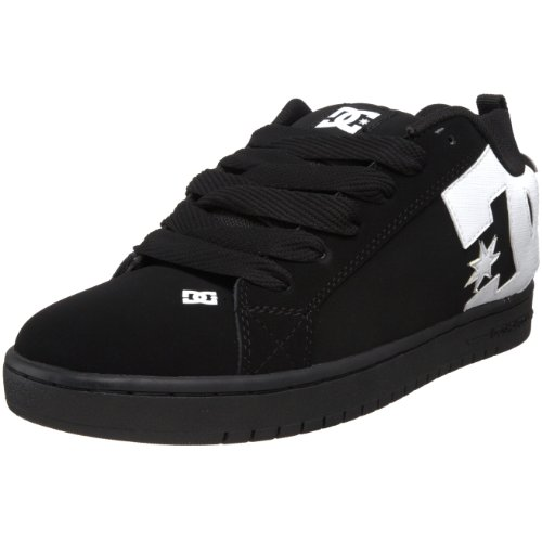 DC Shoes - Sneaker COURT GRAFFIK SHOE, Uomo, Nero (Schwarz/KWCD), 38,5
