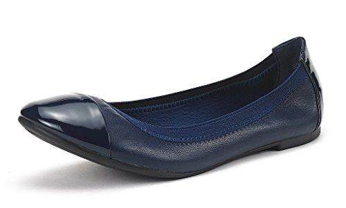 Dream Pairs Sole-Flex Bailarina Mujer Azul Marino