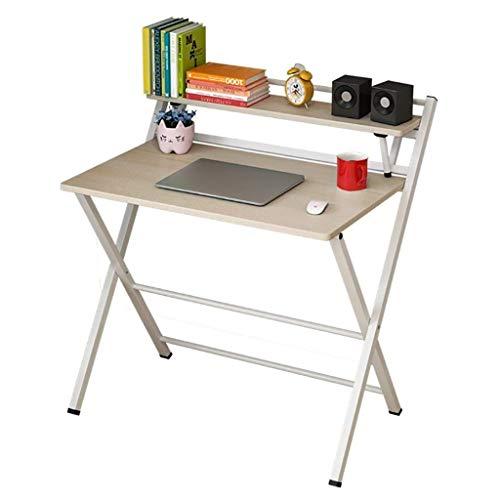 SH-tables Escritorio Plegable, Escritorio Simple, Escritorio De Computadora, Escritorio De Estudio, Estante De Almacenamiento para Oficina En Casa, 4 Colores (Color : A)