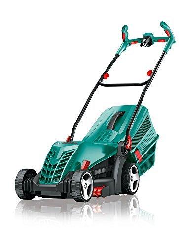 Tondeuse à gazon Bosch ARM 34, bac de ramassage d herbe, caisse (1300 W, hauteur de coupe 20-70 mm, largeur de coupe 34 cm, 11 kg)