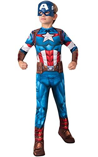 Rubies - Disfraz clásico oficial del Capitán América, niño, talla M de 7 a 8 años, I-702563M