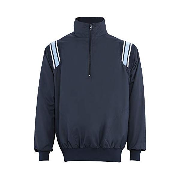 ADAMS USA ADMBB320-2XL-NYPB Umpire Long Sleeve Pullover Jacket, Navy/Powder Blue, XX-Large