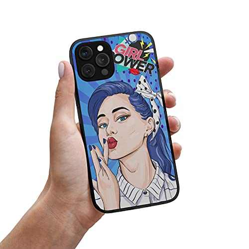 Desconocido Funda iPhone Chica Beso Girl Power Colores Dibujo (iPhone 6 / 6s)