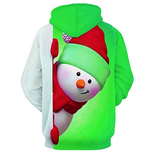 Felpa Uomo 3D Felpata Natale Cotone Natalizia Maglione Renna Uomo Xmas Reindeer Buon Natale novità 3D Bubbles Maglione Maglione Top Lungo Manica Unisex Retro X-mas Pullover Santa Felpe