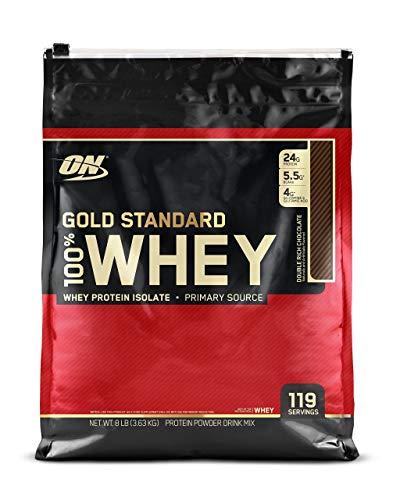 Optimum Nutrition Gold Standard 100% Whey Protein Powder, Double Rich Chocolate, 8 Pound