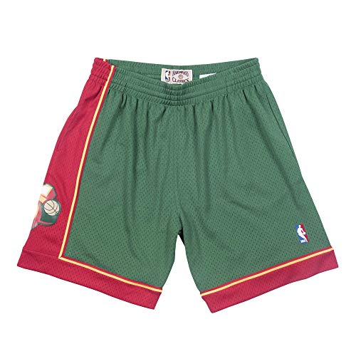 Mitchell & Ness Seattle Supersonics 1995-96 Swingman NBA Shorts Grün, M
