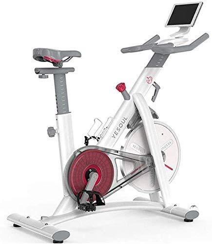 KANJJ-YU Ejercicio Bicicleta Ejercicio Ciclismo Bicicleta Estacionaria W/Pantalla LCD Frecuencia Cardíaca Ajustable Pie Fitness Equipo Hogar Ejerciciador Fitness