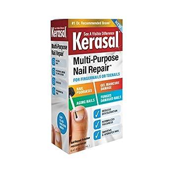 Kerasal Multi-Purpose Nail Repair Nail Solution for Discolored and Damaged Nails 0.43 fl oz