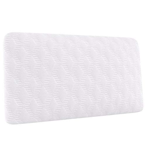 Amazon Basics - Almohada de viaje pequeña de espuma con memoria, 42 x 24 x 12 cm